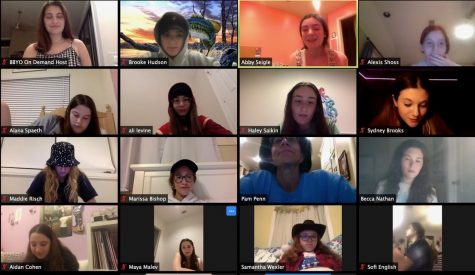 Students chat with their friends on Zoom