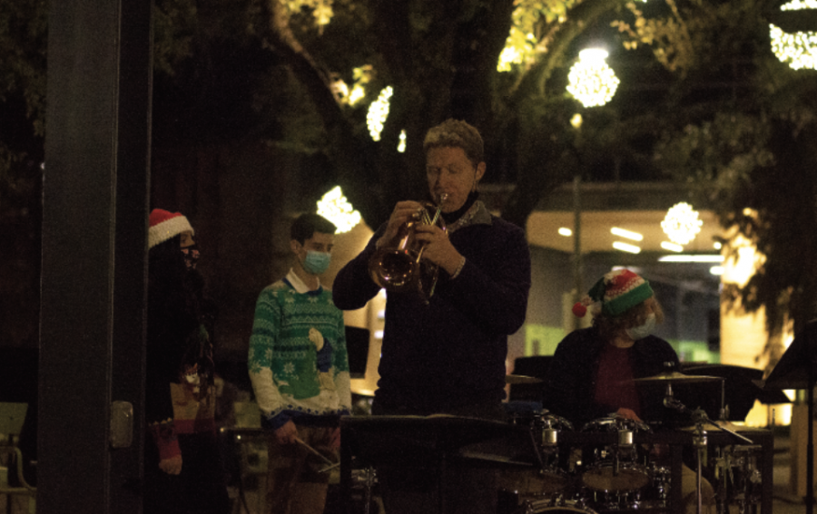 Band performs holiday concert at Levy Park