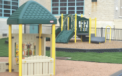 The new playground on campus is a part of the child development class and daycare