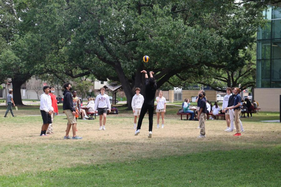Lunchtime volleyball is a big hit